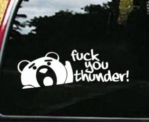 Thunder Buddy Funny Decal Sticker - https://customstickershop.us/product-category/jdm-stickers/