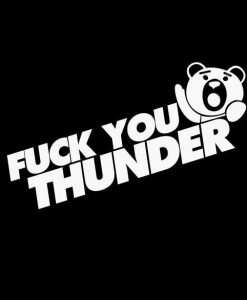 Fuck You Thunder Buddy Car Decals - https://customstickershop.us/product-category/jdm-stickers/