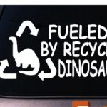 Recycled Dinosaurs Window Decal Sticker