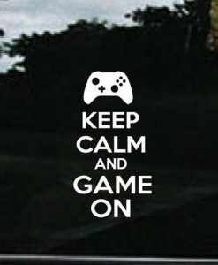 Keep Calm and Game Decal Sticker - https://customstickershop.us/product-category/stickers-for-cars/
