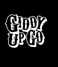 Giddy Up Go Truck Decal Sticker - https://customstickershop.us/product-category/western-decals/