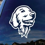 Golden Retriever Head Dog Decal - Dog Stickers