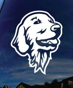 Golden Retriever Head Decal Sticker - https://customstickershop.us/product-category/animal-stickers/