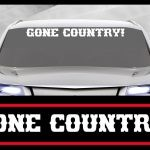 Gone Country Windshield Decals - https://customstickershop.us/product-category/windshield-decals/