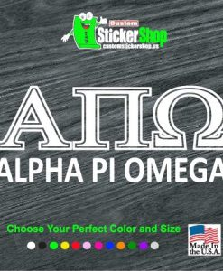 greek letter fraternity sorority decal sticker pledge