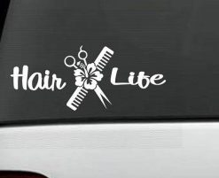 Hair Life Beautician Decal Sticker - //customstickershop.us/product-category/career-occupation-decals/