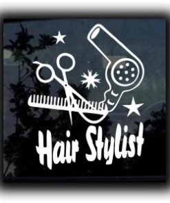 Hair Stylist Beautician Decal Sticker - https://customstickershop.us/product-category/career-occupation-decals/