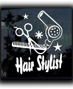 Hair Stylist Beautician Decal Sticker - //customstickershop.us/product-category/career-occupation-decals/