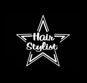 Hair Stylist Beautician Star Decal - https://customstickershop.us/product-category/career-occupation-decals/