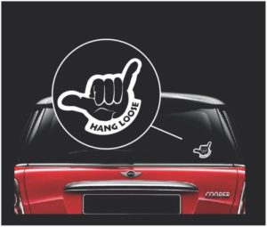 hang loose shaka window decal sticker