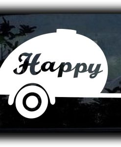 Happy Camper Car Window Decal - //customstickershop.us/product-category/stickers-for-cars/