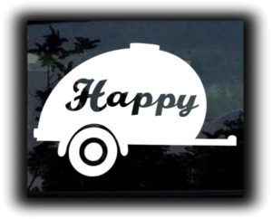 Happy Camper Car Window Decal - https://customstickershop.us/product-category/stickers-for-cars/