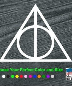 harry potter deathly hallows decal sticker