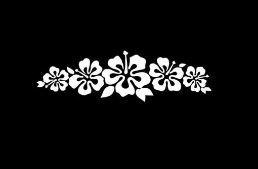 Hawaiian Hibiscus Car Decal Sticker - https://customstickershop.us/product-category/stickers-for-cars/