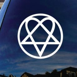 Heartagram Window Decal Sticker - https://customstickershop.us/product-category/stickers-for-cars/