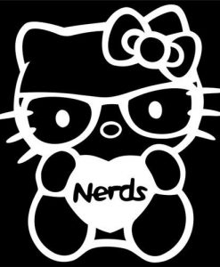 Hello Kitty Love Nerds Decal Sticker - https://customstickershop.us/product-category/stickers-for-cars/