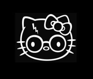 Hello Kitty Harry Potter Decal Sticker - https://customstickershop.us/product-category/stickers-for-cars/