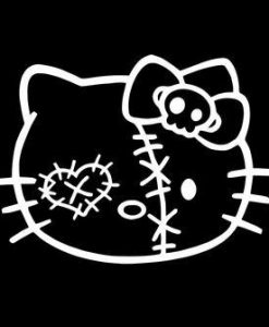 Hello Kitty Head Zombie Stickers - https://customstickershop.us/product-category/zombie-stickers/
