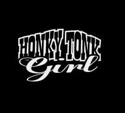 Honky Tonk Cowgirl Decal Sticker - //customstickershop.us/product-category/western-decals/