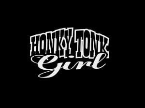 Honky Tonk Cowgirl Decal Sticker - https://customstickershop.us/product-category/western-decals/