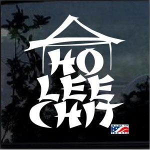 ho lee chit window decal sticker