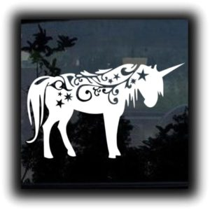 Fantasy Horse Unicorn Decal Sticker - https://customstickershop.us/product-category/animal-stickers/