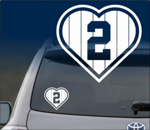 Love Derek Jeter Car Decal Sticker - https://customstickershop.us/product-category/stickers-for-cars/