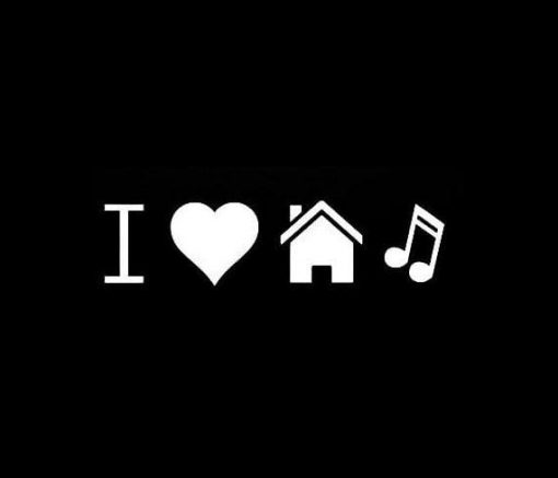 Love House Music Car Decal Sticker - https://customstickershop.us/product-category/stickers-for-cars/