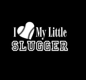 Love Little Slugger Car Decal Sticker - https://customstickershop.us/product-category/stickers-for-cars/