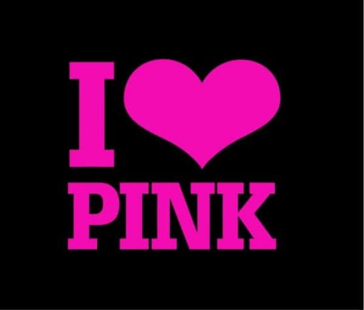Love Pink Car Window Decal Sticker - https://customstickershop.us/product-category/stickers-for-cars/