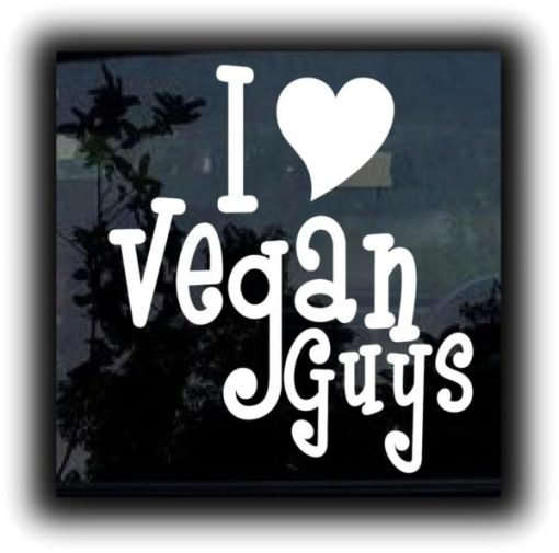 Love Vegan Guys Decal Sticker - https://customstickershop.us/product-category/stickers-for-cars/