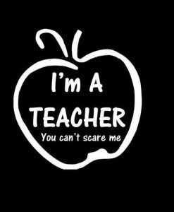 I am a Teacher Decal Sticker - //customstickershop.us/product-category/career-occupation-decals/