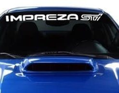Subaru Impreza STI Windshield Decals - https://customstickershop.us/product-category/windshield-decals/