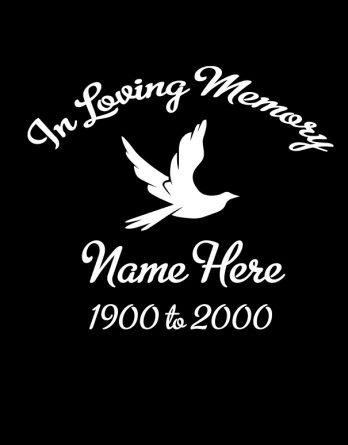 in loving memory dove