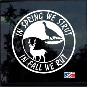 in spring rut fall strut window decal sticker