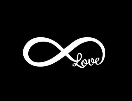 Love Infinity Symbol Stickers for Cars - https://customstickershop.us/product-category/stickers-for-cars/