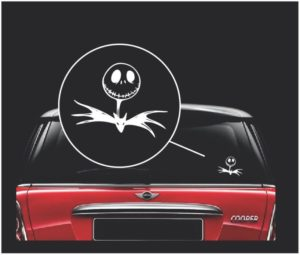 jack skellington nightmare before christmas window decal sticker