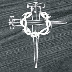 jesus cross and nails decal sticker