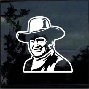 john wayne window decal sticker