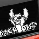 Stitch Back Off Decal Sticker - https://customstickershop.us/product-category/stickers-for-cars/