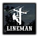 Lineman Electrician Decal Sticker - https://customstickershop.us/product-category/career-occupation-decals/