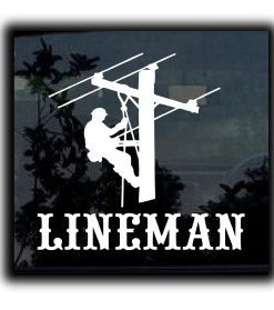 Lineman Electrician Decal Sticker - //customstickershop.us/product-category/career-occupation-decals/