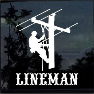Lineman Electrician Decal Sticker