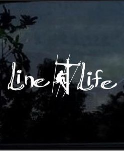 lineman line life decal sticker