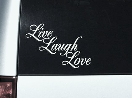 Window Stickers For Cars >> Live Laugh Love Window Decal Sticker