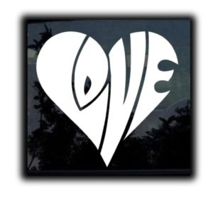 Love Heart Window Decal Sticker - https://customstickershop.us/product-category/stickers-for-cars/