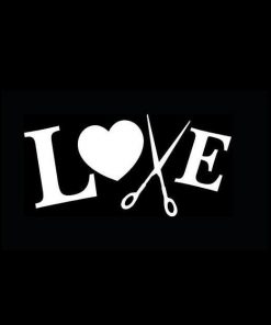 Hair Stylist Love Scissors Decals