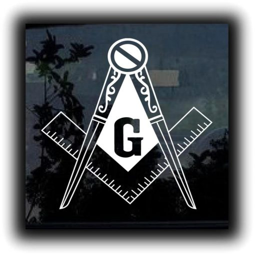 Masonic Mason Square Decal Sticker - https://customstickershop.us/product-category/stickers-for-cars/