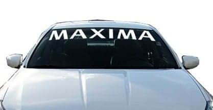 Nissan Maxima windshield Decals - https://customstickershop.us/product-category/windshield-decals/