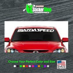 mazda speed windshield decal sticker